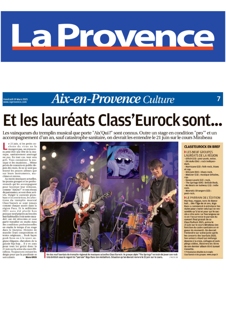 Les lauréats 2021 La Provence